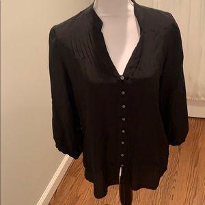Banana Republic Black 100% silk blouse